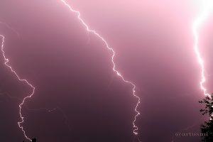 Erdblitze während Gewitter am 14. Juni 2007 um 22:13 Uhr