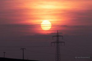 Sonnenuntergang am 10. Oktober 2008 um 18:20 Uhr