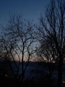 Abendstern Venus am 13. Januar 2009 um 17:32 Uhr