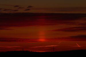 Lichtsäule am 18. März 2009 um 18:42 Uhr