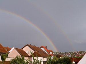 Regenbogen am 17. August 2009 um 18:53 Uhr