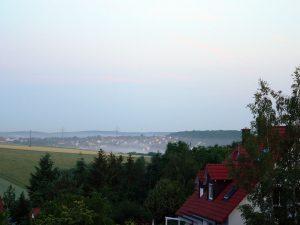 Nebelbildung am 22. Juni 2010 um 05:00 Uhr