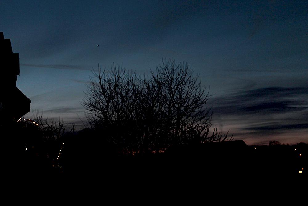 Morgenstern Venus am 13. Dezember 2012 um 07:25 Uhr