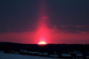 Lichtsäule am 13. März 2013 um 18:19 Uhr