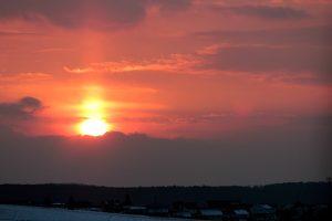Lichtsäule am 14. März 2013 um 18:10 Uhr