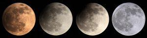 Verlauf der partiellen Mondfinsternis am 25. April 2013