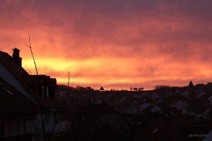 Morgenrot am 15. Dezember 2013 um 08:08 Uhr