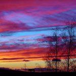 "Abendrot am Ende des Sturmtiefs ""Qumaira"" am 7. Februar 2014 um 17:36 Uhr"