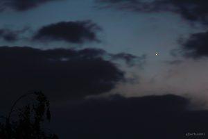 Merkur am 16. Mai 2014 um 21:57 Uhr am Westhimmel
