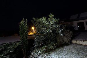 Erster Schnee am 2. Dezember 2014 um 22:55 Uhr