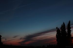 Abendstern Venus am 16. März 2015 um 19:12 Uhr