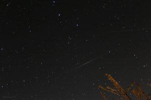 Satelliten Iridium 18 mit Flare und 17 am 20. April 2015 um 22:00 Uhr