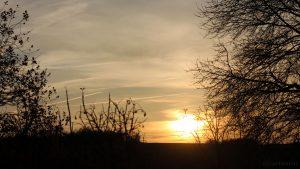 Sonnenuntergang am WSW-Himmel am 12. November 2015 um 16:09 Uhr
