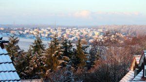 Der erste Schnee - gesehen am 22. November 2015 um 08:10 Uhr