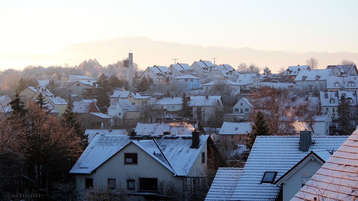Der erste Schnee im Herbst 2015 ist da