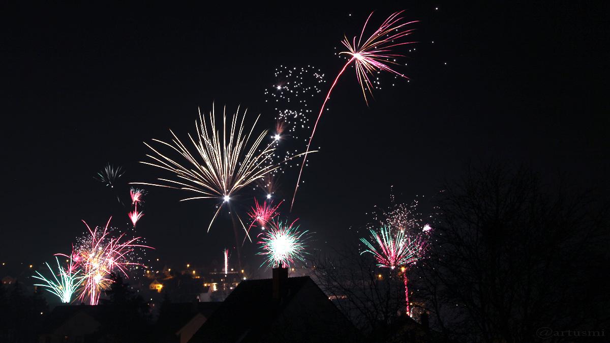 Silvesterfeuerwerk am 1. Januar 2014