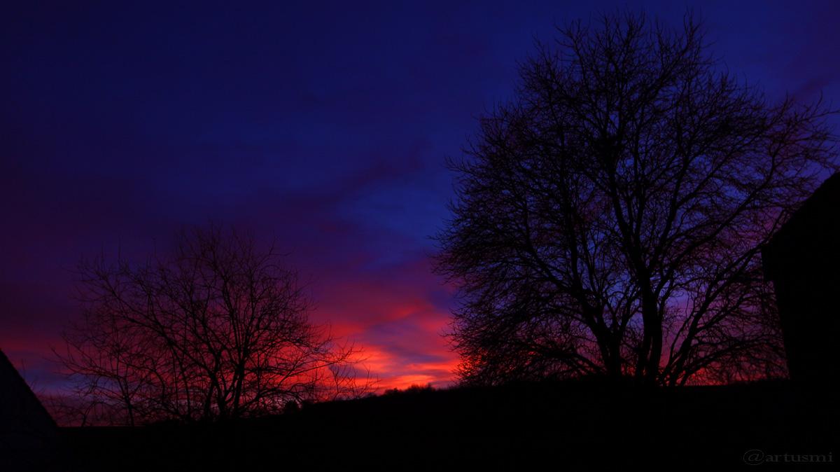 Abendhimmel in Flammen