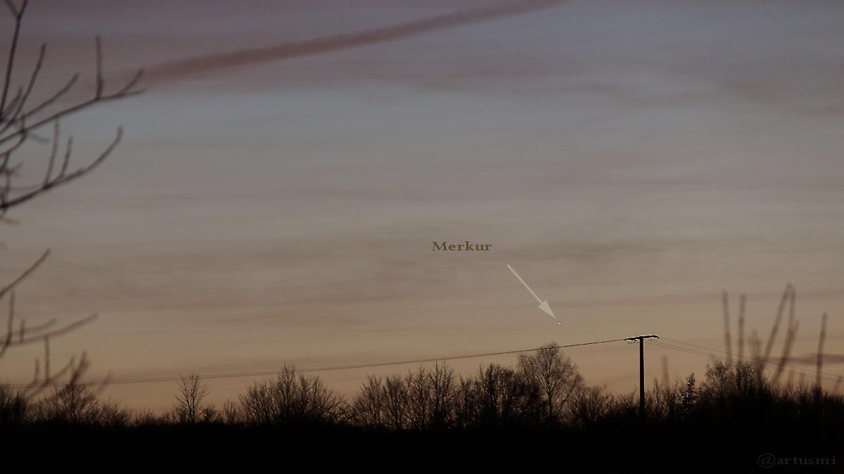 Merkur in der Abenddämmerung am Südwesthimmel