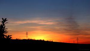 Knapp 10 Minuten nach Sonnenuntergang am 6. Februar 2016 um 17:26 Uhr