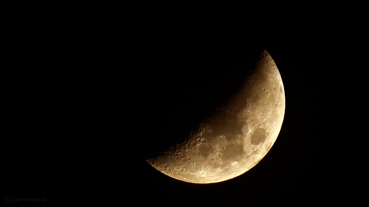 Zunehmender Mond am 15. März 2016 um 00:00 Uhr