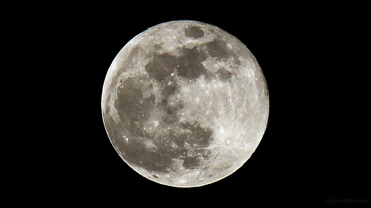 Vollmondnacht mit Jupiter
