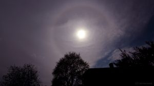 22°-Ring - Sonnenhalo am 30. April 2016 um 16:14 Uhr