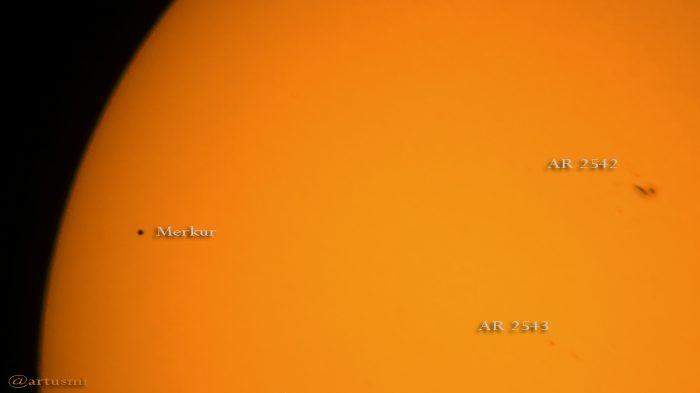 Merkurtransit am 9. Mai 2016 um 13:47 Uhr
