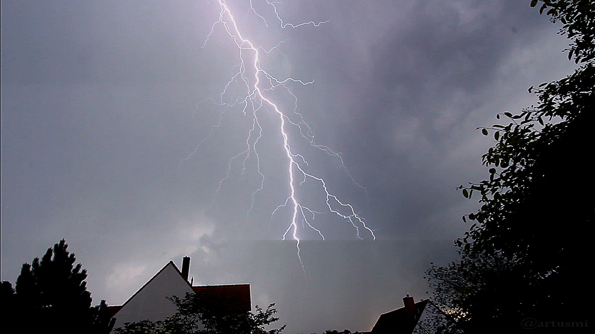 Blitzeinschlag live miterlebt