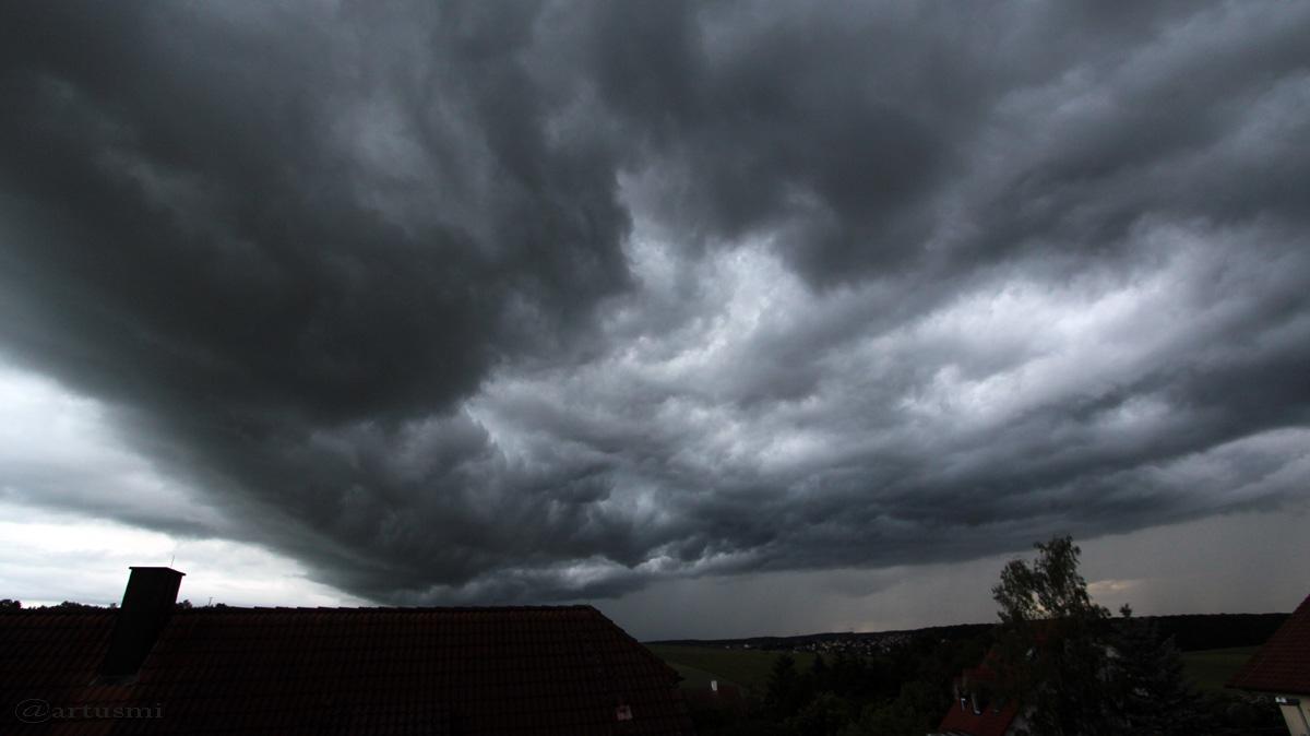 Beeindruckende Wolken, die man nicht jeden Tag sieht