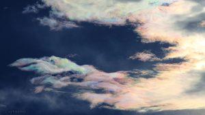 Irisierende Wolken am 17. Juni 2016 um 19:39 Uhr