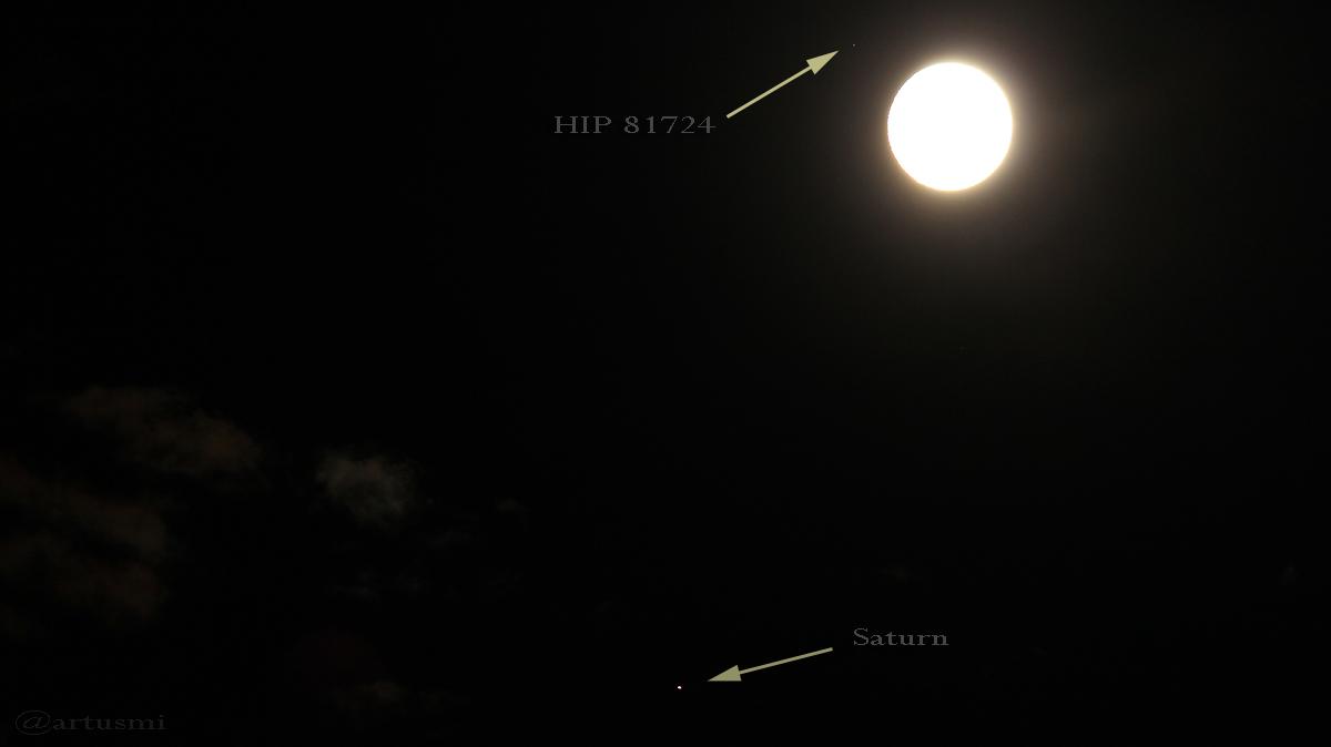 Saturn und Mond am 19. Juni 2016 um 01:41 Uhr