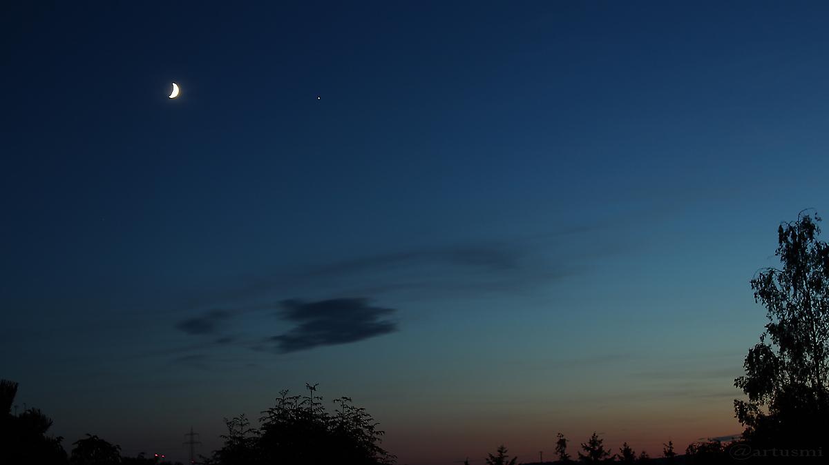 Mond und Jupiter am 9. Juli 2016 um 22:26 Uhr