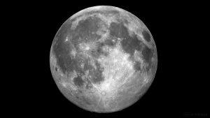 Der Mond am 19. Juli 2016 um 23:07 Uhr