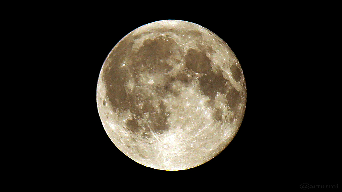 Der Mond am 19. August 2016 um 00:14 Uhr