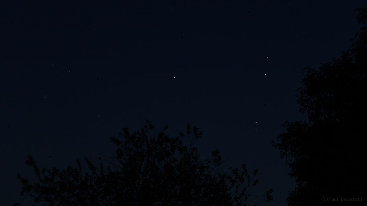 Konstellation Saturn - Mars - Antares am 24. August 2016 um 21:21 Uhr