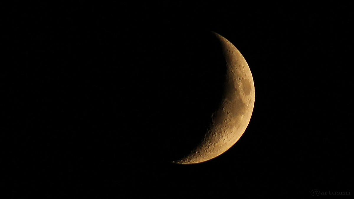 Zunehmender Mond in Erdferne