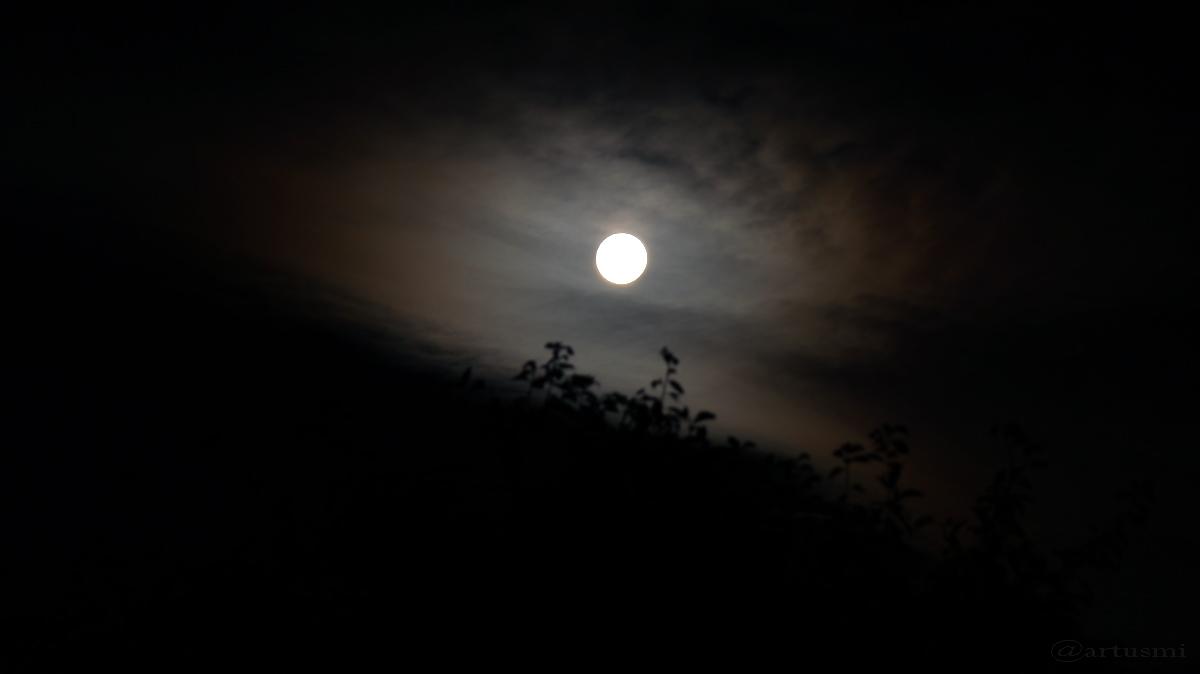Halbschatten-Mondfinsternis unsichtbar hinter Wolken