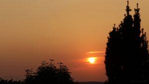Untergehende Sonne am 27. September 2016 um 18:46 Uhr