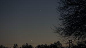 Venus und Saturn am 29. Oktober 2016 um 18:52 Uhr