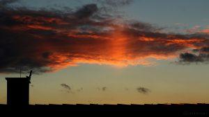 Lichtsäule beim Sonnenuntergang am 6. November 2016 um 16:48 Uhr