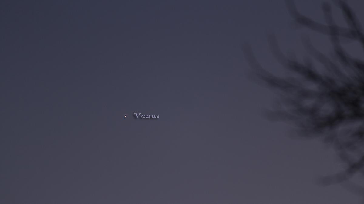 Venus als Abendstern am Südwesthimmel - 28. November 2016, 16:56 Uhr