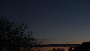 Venus als Abendstern am Südwesthimmel - 28. November 2016, 17:07 Uhr