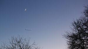 Venus und Mond am 3. Dezember 2016 um 16:50 Uhr