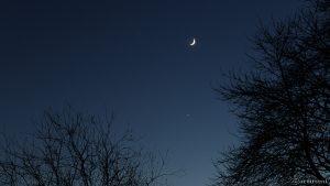 Venus und Mond am 3. Dezember 2016 um 17:06 Uhr