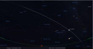 Überflug der ISS am 4. Dezember 2016 - Simulation mit Stellarium
