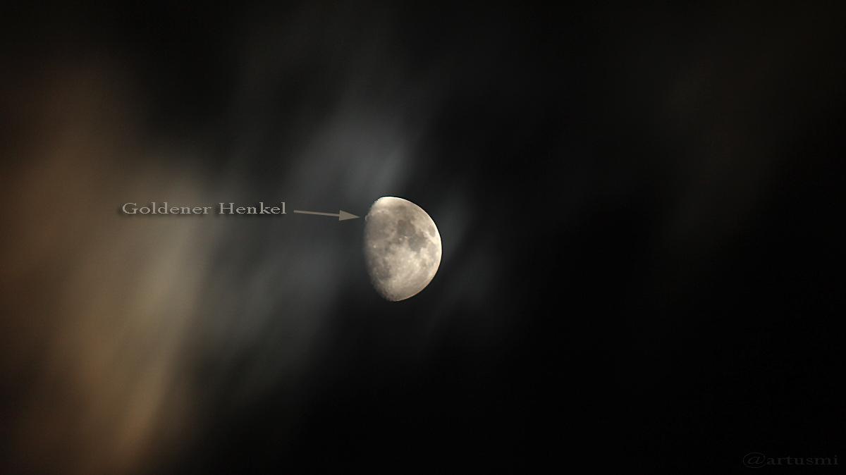 Der Goldene Henkel im Dezember 2016 am zunehmenden Mond