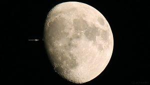 Mondkrater Aristarchus am 10. Dezember 2016 um 16:47 Uhr