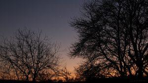 Venus als Abendstern am Südwesthimmel - 10. Dezember 2016, 16:55 Uhr