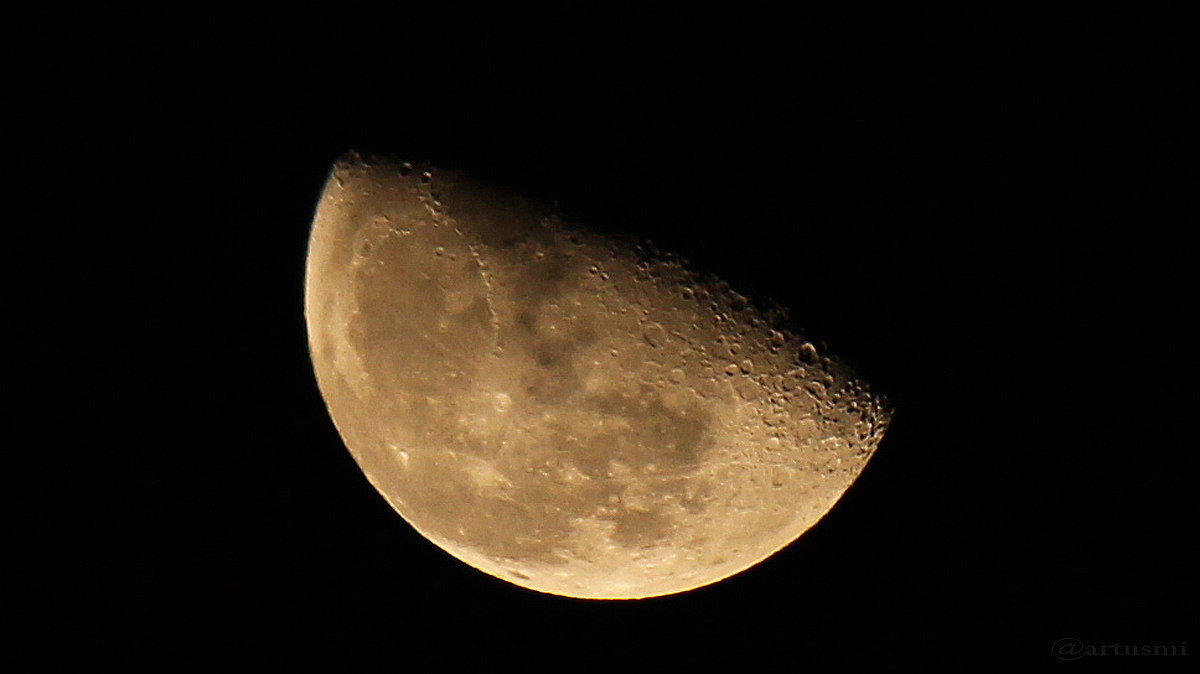 Abnehmender Mond am 20. Dezember 2016 um 00:58 Uhr