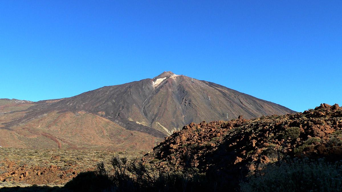 Vulkan Teide vom Fuß des Guajara aus gesehen
